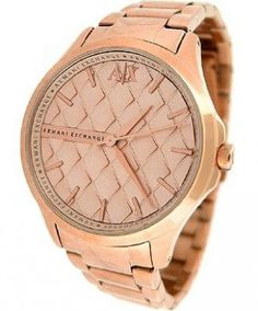 Relógio Armani Exchange Rose Dial Rose Gold-tone Ladies Watch AX5202 #relogio #ArmaniExchange