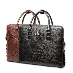 Men Business Genuine Crocodile Leather Boss Briefcase Handbag Casual Daily  Bag  fashion  clothing   1aa86bcf1050c
