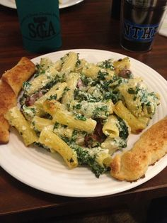Sean's New Go-To Meal: a Sausage & Spinach Cheesy Pasta Bake