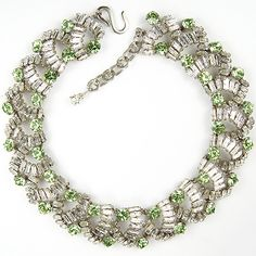 Christian Dior by Henkel and Grosse Baguettes and Peridots Choker Necklace