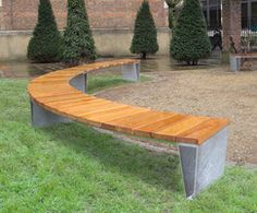 Veeva – straight and curved seats and benches, contemporary, modular outdoor seating design, public seating for parks & outdoor spaces Outdoor Furniture Sofa, Urban Furniture, Street Furniture, Curved Bench, Outdoor Seating, Outdoor Decor, Leather Chaise Lounge Chair, Wayfair Living Room Chairs, Public Seating