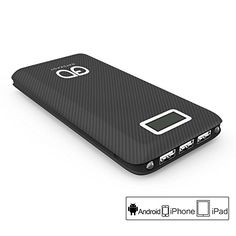 Gatcepot 24000mAh 55A Universal 3Port UltraHigh Capacity Power Bank for All Smartphones  Black ** Be sure to check out this awesome product.