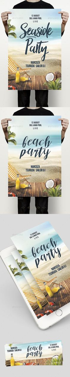 Beach Party  PSD Template • Download ➝…