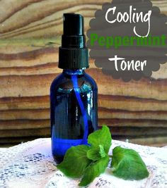 Diy skin care recipes : cooling peppermint toner www. Young Living Oils, Young Living Essential Oils, Homemade Toner, Diy Beauté, Toner For Face, Facial Toner, Skin Toner, Tips Belleza, Doterra Essential Oils