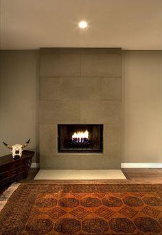 Cast Concrete Tiled Fireplace in Portobello by Solus Decor, via Flickr