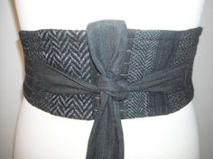 obi belt (recycled suits)