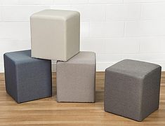 Add contemporary style to interiors with temporary foam seating cubes Ottoman Stool, Upholstered Ottoman, Multifunctional Furniture, Custom Printed Fabric, Waiting Area, Business Furniture, Lounge Seating, Modern Coffee Tables, Cubes