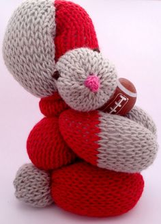 Easter Bunny for an Ohio State Buckeye Fan, Scarlet and Gray Balloon Bunny for your Easter Basket