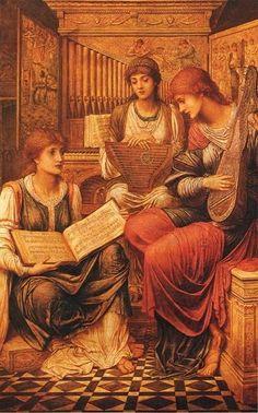The Music of a Bygone Age by John Melhuish Strudwick :: artmagick.com