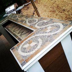custom design mosaic tile bar