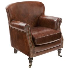 """Manchester Leather Arm Chair 