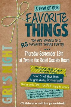 Love this Relief Society activity idea!