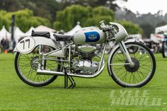 1951 Mondial 125 Bialbero GP side view at Quail 2015