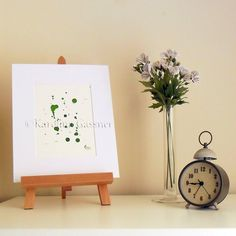 Simply Green - Original Abstract Ink Painting - NOT A PRINT