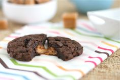 sea salt and caramel filled brownie cookies