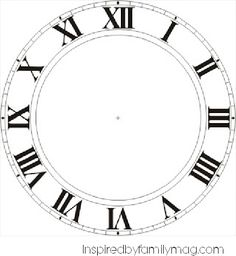 The Chic Technique: FREE Printable Clock Faces for New Year's Eve from Be Different.Act Normal: DIY New Years Eve Decorations [New Years Celebration]. Also links to a standard numbers clock face version in addition to Roman numerals. Diy New Years Eve Decorations, Clock Face Printable, New Year's Eve Countdown, Christmas Clock, Alice In Wonderland Tea Party, Diy Clock, Clock Craft, Clock Ideas, Mad Hatter Tea