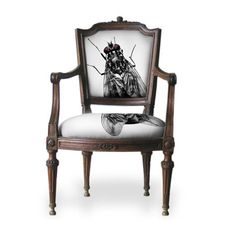 The Naughty Chair's cousin Wing Back has no taste in tattoos or tattoo placement