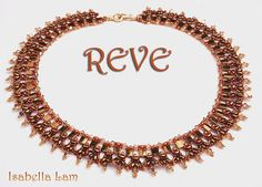 REVE SuperDuo Beadwork Necklace Pdf tutorial instructions for personal use only $10.00