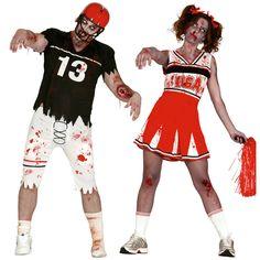 Pareja Fútbol Americano Zombies #parejas #disfraces #carnaval #novedades2015