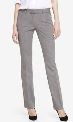 PINSTRIPE BARELY BOOT EDITOR PANT from EXPRESS