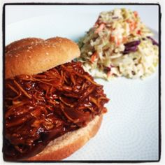 BBQ Pulled Chicken Crock Pot Recipe - Perfect for Game Day #superbowl #whyallthefuss
