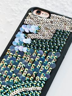 Mermaid Sequin iPhone Case | Give your tech some major shine with this eye-catching iPhone case featuring multi-colored sequins allover.