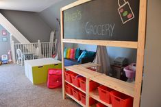 When we built our home we tried to be as economical as possible. Growing up my childhood home had a HUGE playroom. My brother and I spent w...