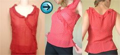 DIY: How to made blouse with a vest