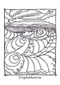 Pen and ink artwork by Huw Williams