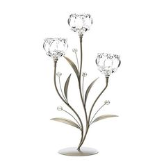 Crystal Flower Triple Candle Holder Lighting Accessories Light Table Accessories Home Decor Home Decorative Items Accessories and Gifts ** Read more  at the image link.Note:It is affiliate link to Amazon.
