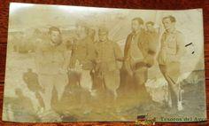 FOTOGRAFIA DE LEGIONARIOS EN MARRUECOS 1925, GUERRA DEL RIF, DESPUES DEL DESEMBARCO DE ALHUCEMAS. EXCELENTE, TAMAÑO POSTAL.