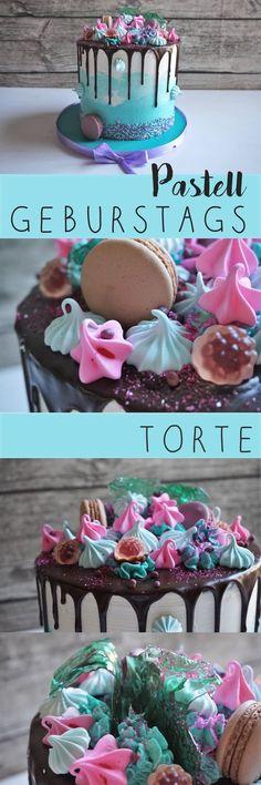 Pastell-Farben, Creme und viel süße Deko oben: die hohe und schöne Torte machte den 3. Geburtstag ganz besonders!
