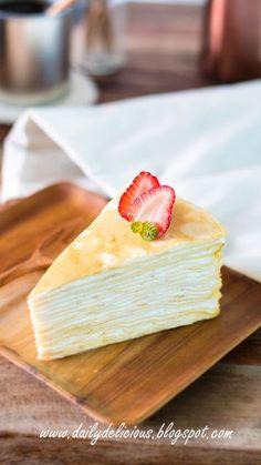 dailydelicious: 20 layers Vanilla Crepe Cake