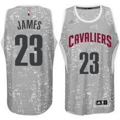 23 Adidas Swingman LeBron James Men s Light Grey NBA Jersey - Cleveland  Cavaliers City Los 692ca0df3