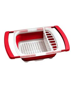 Look at this #zulilyfind! Red Collapsible Over-the-Sink Dish Drainer #zulilyfinds