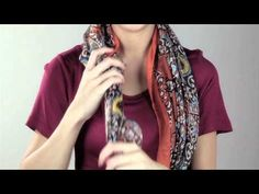 Cost Plus World Market -- How to Tie a Scarf: Girly Windsor >> #WorldMarket Fashion Scarves