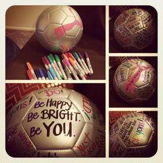 Inspirational Soccer Balls. End of season gift idea