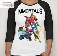 Immortals Big Hero 6 t-shirt by AndyAndTheArtBella on Etsy