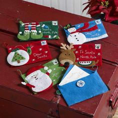 Bucilla ® Seasonal - Felt - Ornament Kits - Letters to Santa Envelopes | Plaid Enterprises