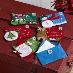 Bucilla ® Seasonal - Felt - Ornament Kits - Letters to Santa Envelopes | Plaid…
