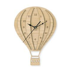Hot Air Balloon Coloured Wall Clock Nursery By Nestaccessories