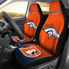 New Fashion Fantastic Denver Broncos Car Seat Covers - Votacolors - Victory of the Arts Bronco Car, Denver Broncos Merchandise, Teal Accent Chair, Accent Chairs, Denver Broncos Football, Upholstered Swivel Chairs, Womens Purses, Seat Covers, Custom Shoes