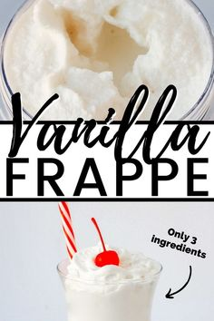 3-Ingredient Vanilla Frappe -- So easy and so good! #frappuccino #frappe #beverage