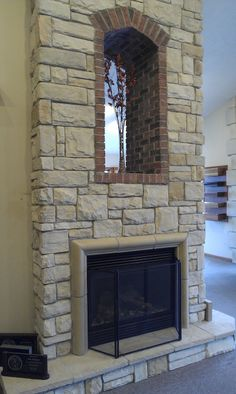 Stoned Fireplace with hearth Country Ashlar J&N Stone
