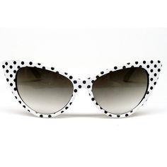 Cat Eye Vintage Retro Polka Dots #Sunglasses