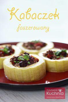 #Kabaczek faszerowany mięsem mielonym z warzywami.   http://pozytywnakuchnia.pl/kabaczek-faszerowany/  #przepis #kuchnia