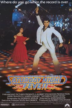 Saturday Night Fever Dance Floor Travolta Film Poster 24x36