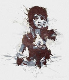 Borderlands 2 Lilith Grunge Art.  this too. pretty sure I'm going to try to paint a lot of my favorite video games
