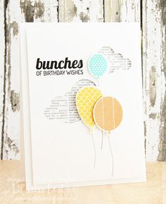 limedoodle, Lil' Inker Designs stamps and dies, balloons, birthday, card