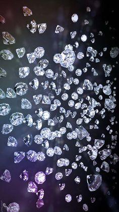 Wallpaper By Artist Unknown. Diamond Wallpaper, Pretty Phone Wallpaper, Wallpaper Space, Cool Wallpaper, Diamond Background, Paparazzi Jewelry, Diamond Gemstone, Aesthetic Wallpapers, Blueberry